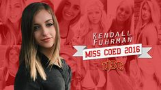 COED Crowns A Winner For Miss COED 2016, Congrats Kendall Fuhrman- USC!
