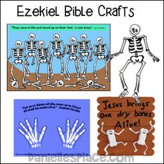 """Ezekiel Dry Bones Craft Stick Bible Craft for Sunday School www.daniellesplace.com"