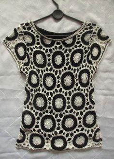 biało-czarna bluzka jak szydełkowa cudna-36 Kup mój przedmiot na #vintedpl http://www.vinted.pl/damska-odziez/bluzki-z-krotkimi-rekawami/11218773-bialo-czarna-bluzka-jak-szydelkowa-cudna-36
