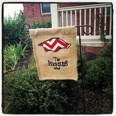 Burlap Razorback Garden Flag. $18.00, via Etsy.