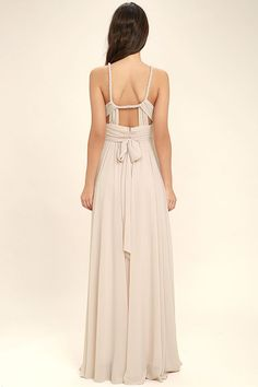 Lulus Exclusive! You'll have free reign of the party in the Carte Blanche Blush Pink Maxi Dress! A pleated surplice bodice made from lightweight chiffon is supported by a braided, modified halter neckline and back sash that loops around and ties at the waist. Fitted waist flows into a full maxi skirt. Hidden back zipper/clasp.