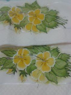 Jogo de banho pintada a mão