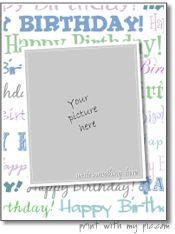 Happy Birthday Card Templates Free Birthday Card Maker **free**  Card Maker  Pinterest  Birthday .