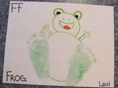 F is for Frog & Feet.    I could just print this one - it already says Levi.