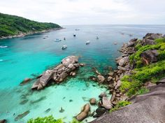 Thailand is home to several stunning destinations that remain hidden from the masses, including the Similan Islands in the Andaman Sea. All of the 11 islands are located in the Mu Koh Similan National Park and sit surrounded by clear shall waters and gorgeous coral reef, making it an idea place for diving and snorkeling.