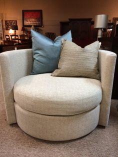 modern chair biege round swivel chair w 2 pillows rene cazares furniture designer consignmentswivel chairmodern chairsfurniture storessan antonioea - Modern Furniture Stores San Antonio