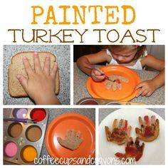 Painted Turkey Toast is a Fun Kids Breakfast