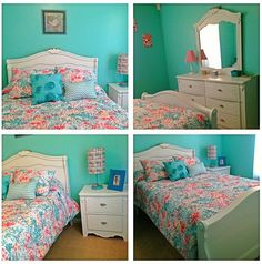coral blue paint walls - Google Search