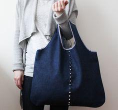 handmade grocery bag by longredthread