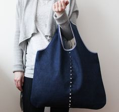 handmade grocery bag by longredthread