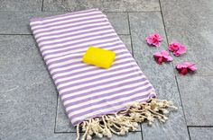 "60% Cotton, 40% Bamboo Turkish Bath & Beach Towel Model: Acacia Dimensions: 100 x 180 cm / 39"" x 71 "" Weight: 300 gr. Color: Lilac Care: Machine Wash max 40"