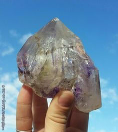 Amethyst crystal I just dug out from beneath my first ever bonsai! Forgot what a beauty she was ♥