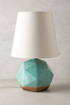 Geo Facets Lamp Ensemble #anthropologie