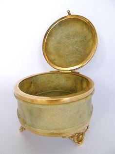 Stone & Brass Trinket Box