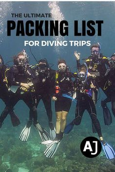 Don't forget anything important back home with this complete checklist for scuba diving trips