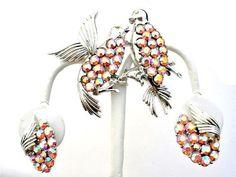 Vintage Rhinestone Bird Set Coro Pegasus by TheJewelryLadysStore
