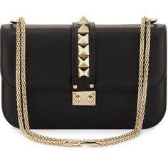 Prada Tessuto/Calfskin Grommet Chain Shoulder Bag   Beauty bag ...
