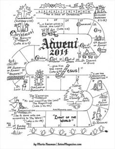 Follow the Days of Advent! Free Advent Activity - by Maria Nauman