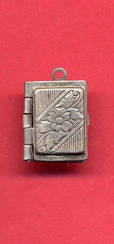 Vintage Sterling Charm - Book-shaped Locket - 4 photos