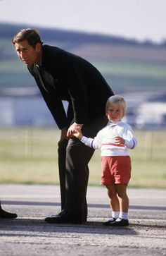 Prince Charles and little William.