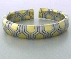 Bvlgari 18k Gold Cuff Bracelet http://hamptonestateauction.com/