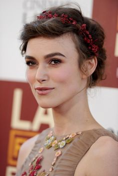 Keira Knightley Braided Updo - Braided Updo Lookbook - StyleBistro