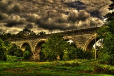 5 arch railroad bridge