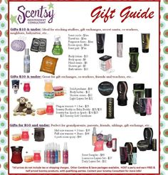 SCENTSY gift ideas