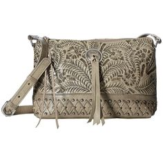American West Dove Canyon Crossbody (Sand) Cross Body Handbags ($158) ❤ liked on Polyvore featuring bags, handbags, shoulder bags, brown leather crossbody, shoulder strap handbags, leather shoulder handbags, crossbody purse and leather pouch