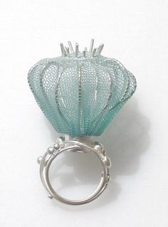 vvv Annette DAM - Lysblå-lille Ring
