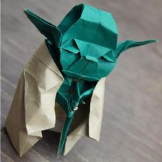 Origami #Yoda.  Master Yoda, teach me the ways of folding you.