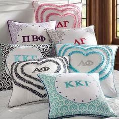sorority pillow covers @Caitlin Burton Groseclose Foster for Caela