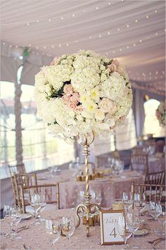 glam pedestal floral centerpiece | elegant wedding reception | #weddingchicks
