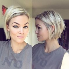 Blonde+Chin-Length+Bob