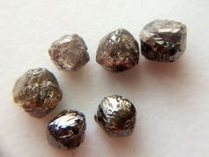 2 Pcs Brown Diamond Crystal Black Rough Diamond by gemsforjewels