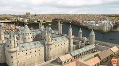 Bienvenido a París, del año 1550, habitado por alrededor de 200 mil habitantes. La fachada de Notre-Dame es todavía sorprendentemente policromada. Este es el pr