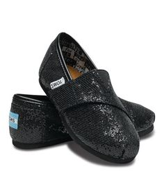 Look what I found on #zulily! Black Glitter Classics - Tiny by TOMS #zulilyfinds