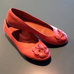 REPOSH Clarks Artisan flats salmon color These are so cute and if you've ever worn Clarks, you know they are comfortable I bought these to wear to work, and I did a couple of times. Now I'm retired and just don't have a need. Very clean. I'm not sure they were ever worn by the Posher I purchased from. I paid $35 on Posh. Selling for $30 because they are in very good condition. Clarks Shoes Flats & Loafers