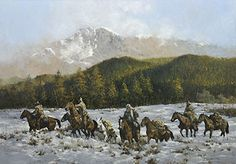 Mountain Men Andy Thomas Paintings - Bing Images