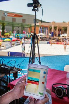 iCoda used for live tagging beach volleyball on iPad mini