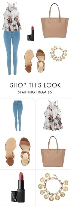"""""""Untitled #1174"""" by mariafilomena471 ❤ liked on Polyvore featuring Topshop, Nine West, Kate Spade, NARS Cosmetics and Avon"""