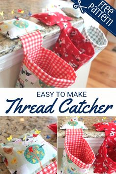 Most recent Screen sewing hacks pin cushions Concepts Free Thread Catcher Tutorial with pin cushion Easy Sewing Projects, Sewing Projects For Beginners, Sewing Hacks, Sewing Tutorials, Sewing Crafts, Sewing Tips, Tutorial Sewing, Sewing Ideas, Scrap Fabric Projects