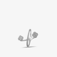 Luvente Diamond Clover Crossover Ring