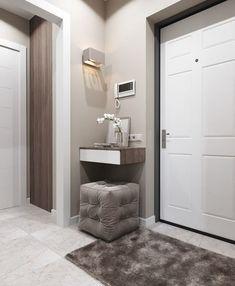 17 Inspiring Apartments Interior Design Ideas – My Life Spot Apartment Interior Design, Room Interior, Interior Design Living Room, Interior Decorating, Flur Design, Home Design, Hallway Designs, House Entrance, Trendy Home