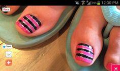 #pink #nailart #toes
