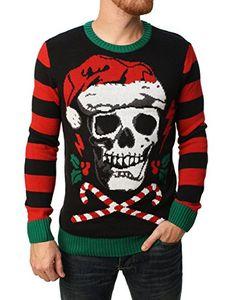 Ugly Christmas Sweater Men s Santa Skull Sweater-Small Best Ugly Christmas  Sweater daad0795f