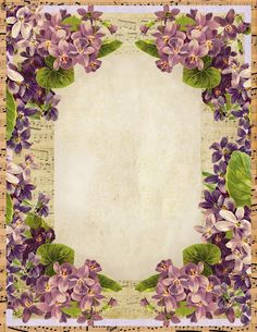 Sweet Violets Stationery ~ free vintage-style printable.This would be beautiful as a background for a photo