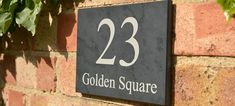 Slate House Signs & Personalised House Signs by Design A House Sign