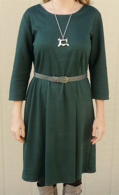 Pretty teal-green tunic dress