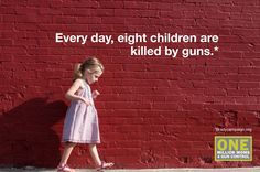 8 children are killed by guns every day
